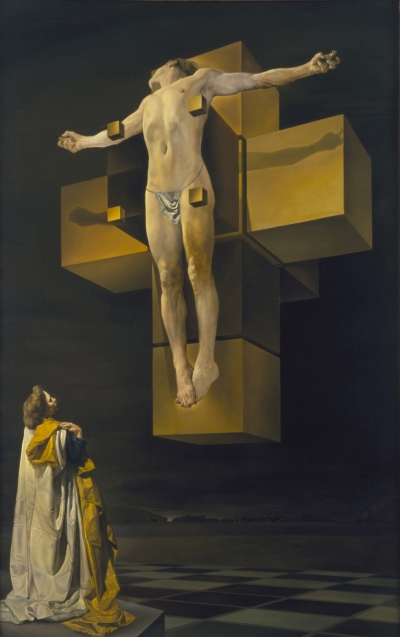 Crucifixion or Corpus Hypercubicus by Salvador Dali